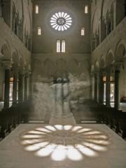 bari, solstizio, 21, giugno, estate, cattedrale, rosone, mosaico, evento, sole, luce